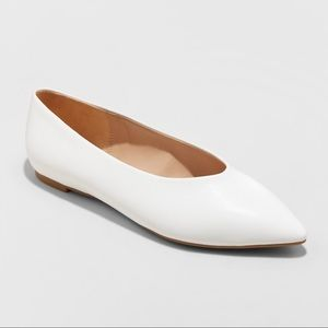Shoes - Women's Camille High Vamp Pointed Toe Ballet Flats